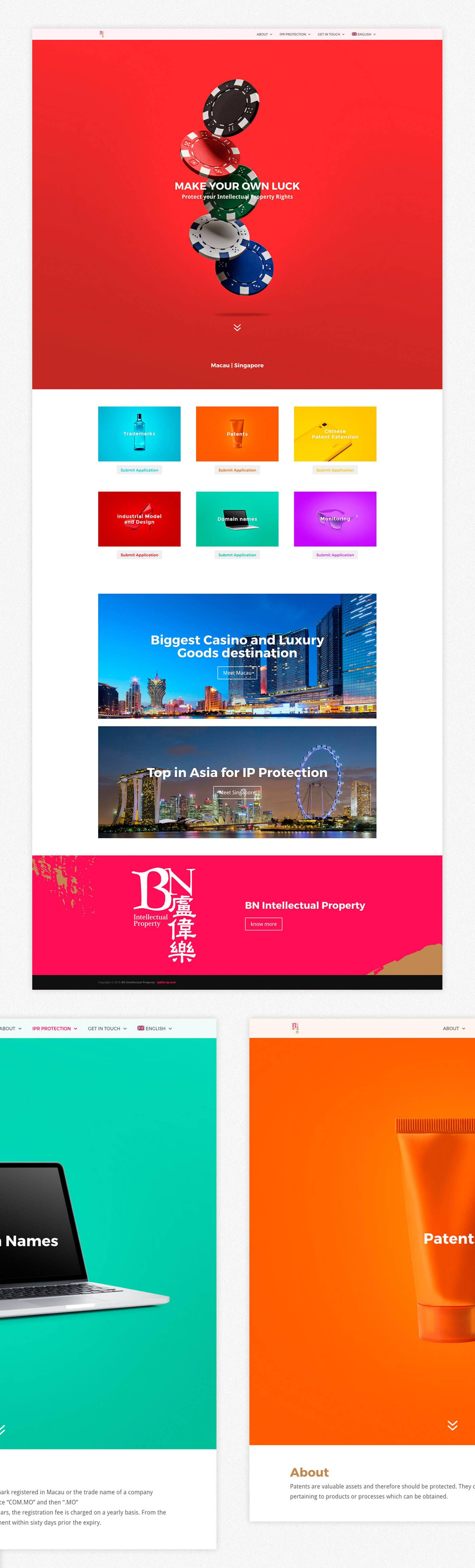 BN IP, Intellectual Property, branding, web design, website