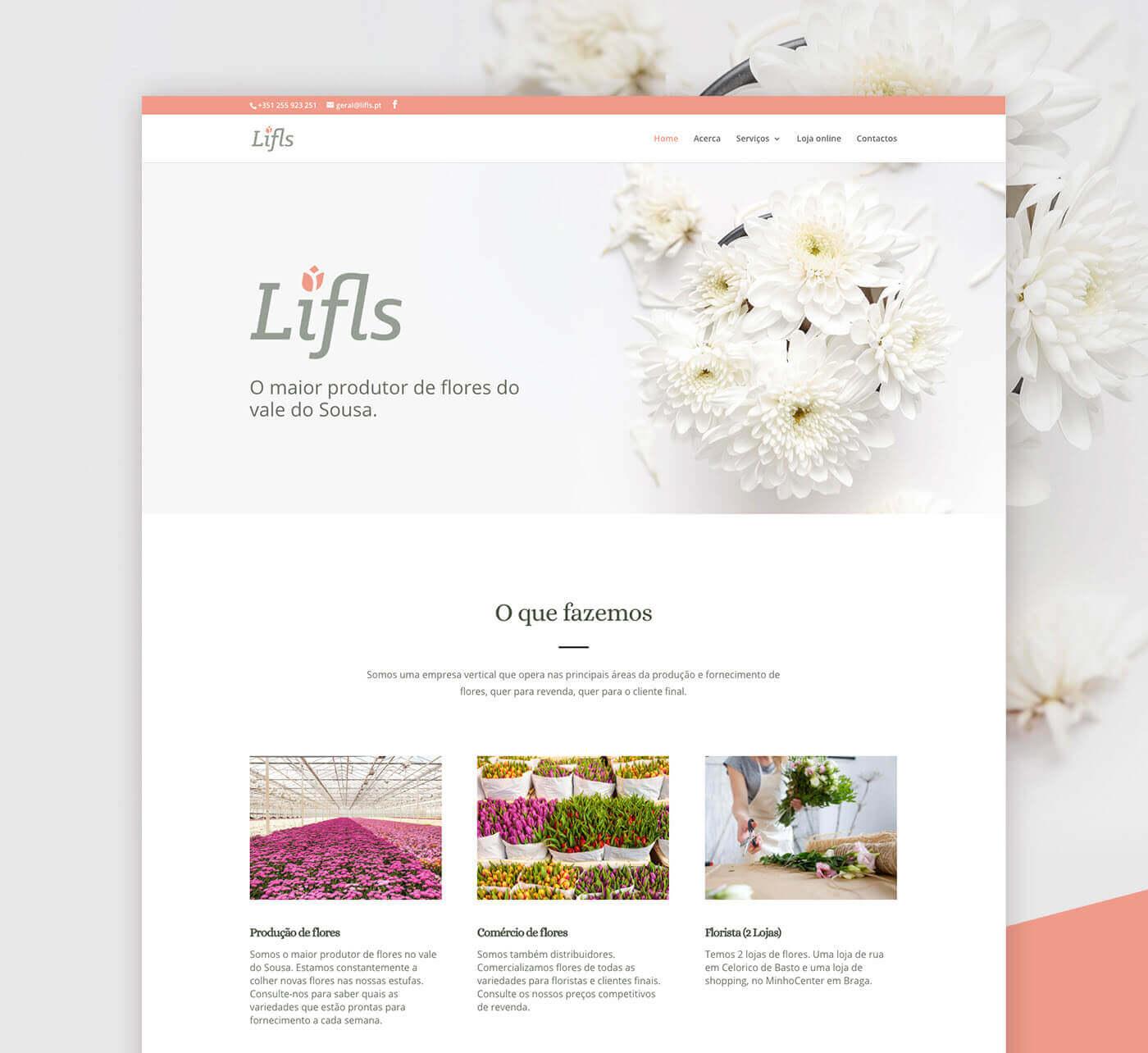Flowers, production, website, web design, lifls