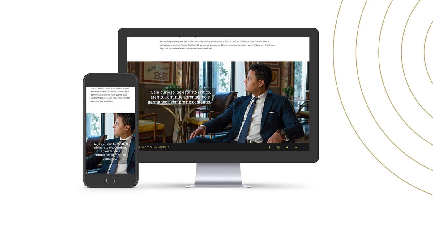 Pedro Silva Baptista, personal branding, elegant, logo, website