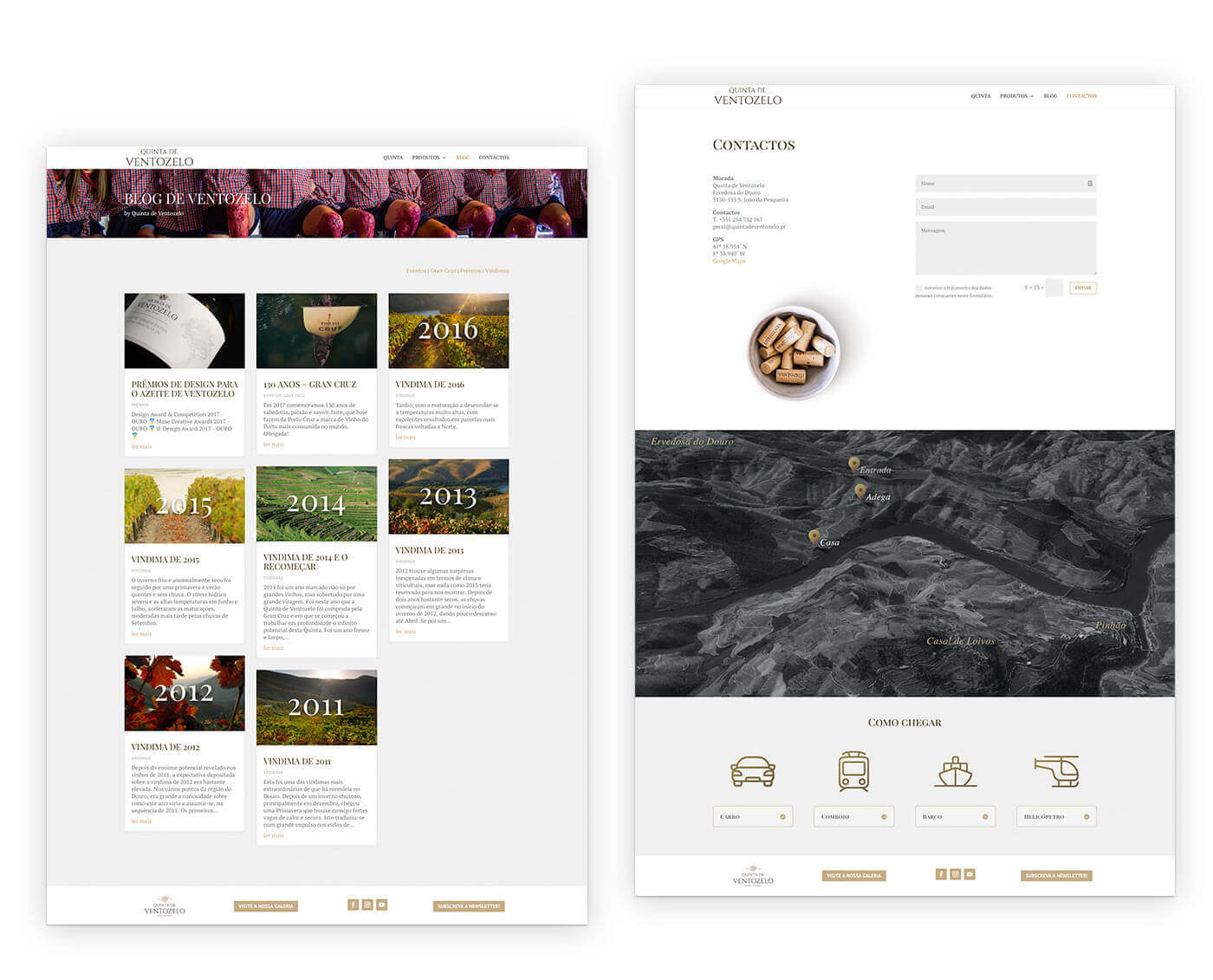 wine, website, quinta de ventozelo, web design