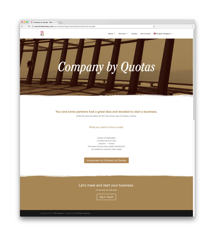 BN Law Macau, lawyers, branding, web design, website