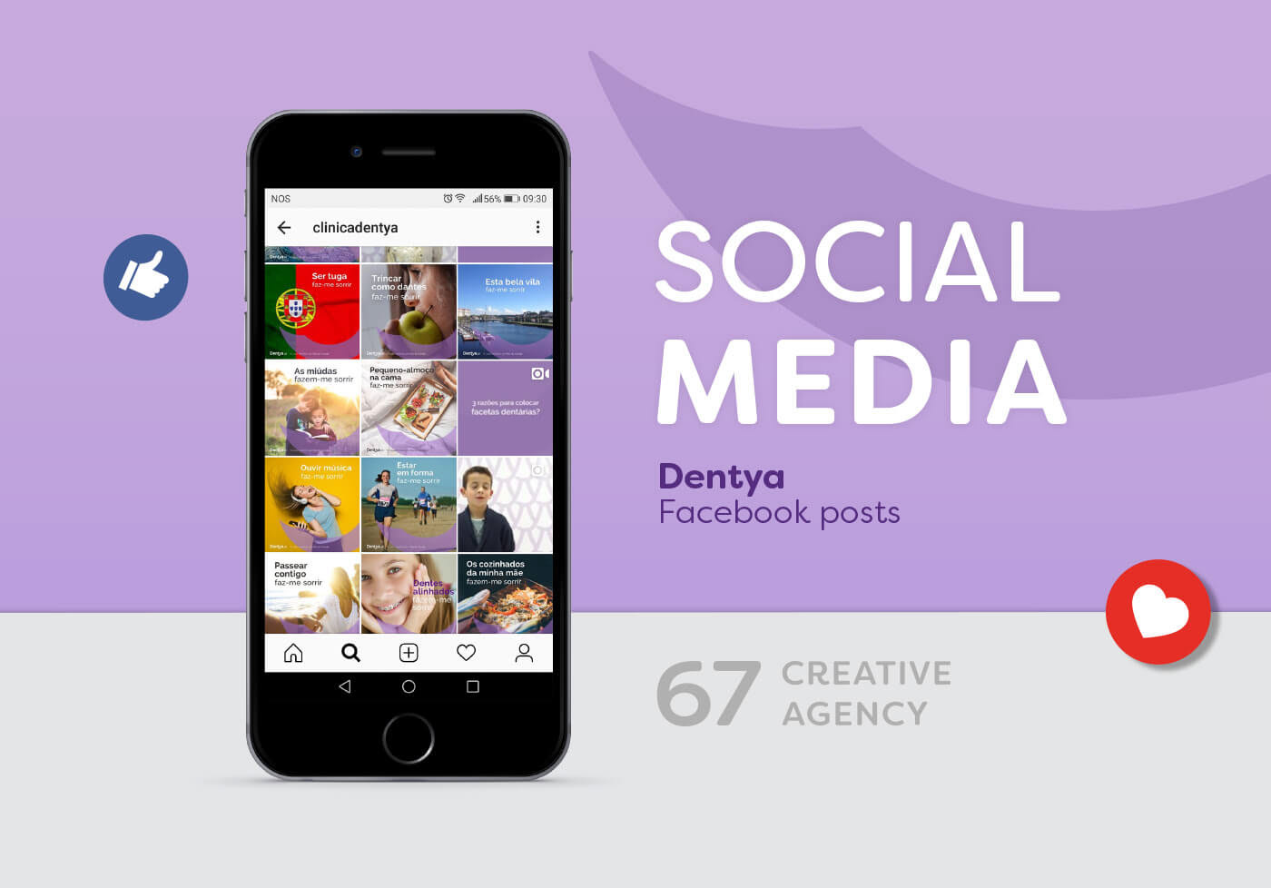 Dentya,  social media, posts